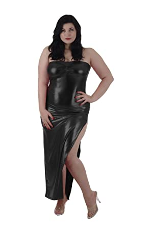 Delicate Illusions Plus Size Stretch Lame Tube Gown