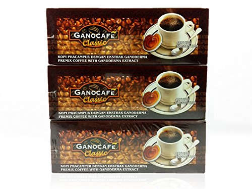 3 Boxes Gano Excel Ganoderma Gourmet Cafe Classic (30 Sachets Per Box) by Gano Excel