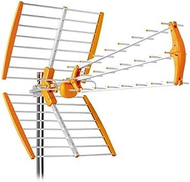 Tecatel Antena TV UHF TDT 18dB Mandarine Fold 4G-LTE: Amazon ...