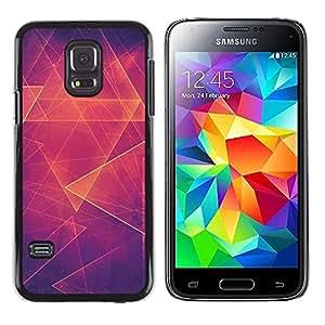 Be Good Phone Accessory // Dura Cáscara cubierta Protectora Caso Carcasa Funda de Protección para Samsung Galaxy S5 Mini, SM-G800, NOT S5 REGULAR! // fire polygon art pattern mystic