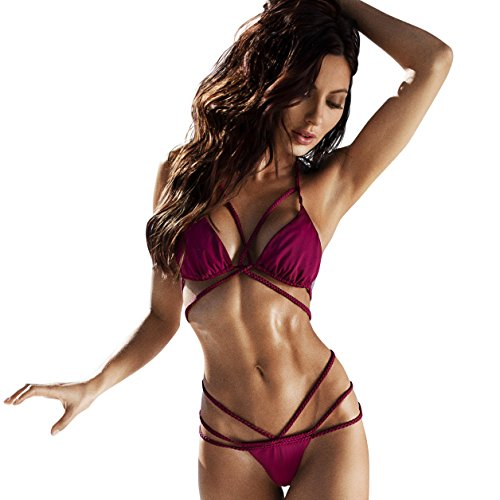 Ava Bikini - Plumeria Swimwear Ava Bikini Bottom (medium, burgundy prune)