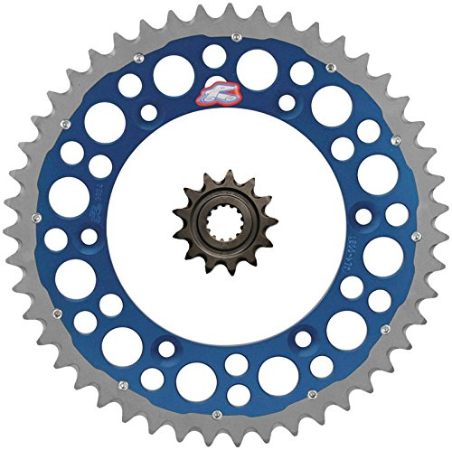 Renthal Grooved Front & Twinwall Rear Sprocket Kit - 13/49 BLUE - Yamaha YZ250F, WR250F _492--520-13GP|1500-520-49GPBU by Seismic Cycles