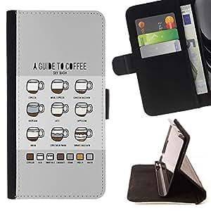 For Samsung Galaxy S4 IV I9500 Case , Gráfico Coffee Guías Guía Barista Copa- la tarjeta de Crédito Slots PU Funda de cuero Monedero caso cubierta de piel