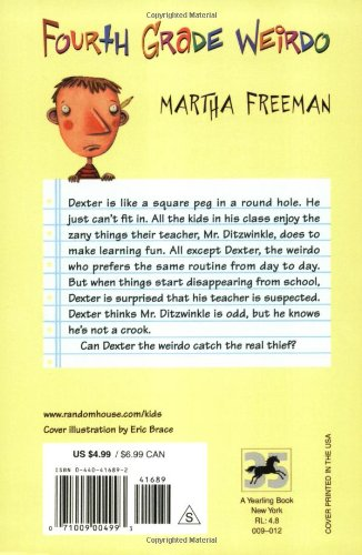 Fourth Grade Weirdo: Martha Freeman: 9780440416890: Amazon.com: Books
