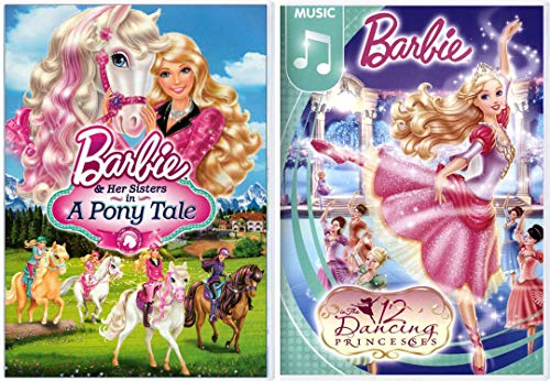 Her Way to Dance Music Barbie The 12 Dancing Princesses + Horse Magic Barbie & Her Sisters A Pony Tale 2 Pack Girls Fun Adventure Cartoon DVD Double Feature Movie Collection