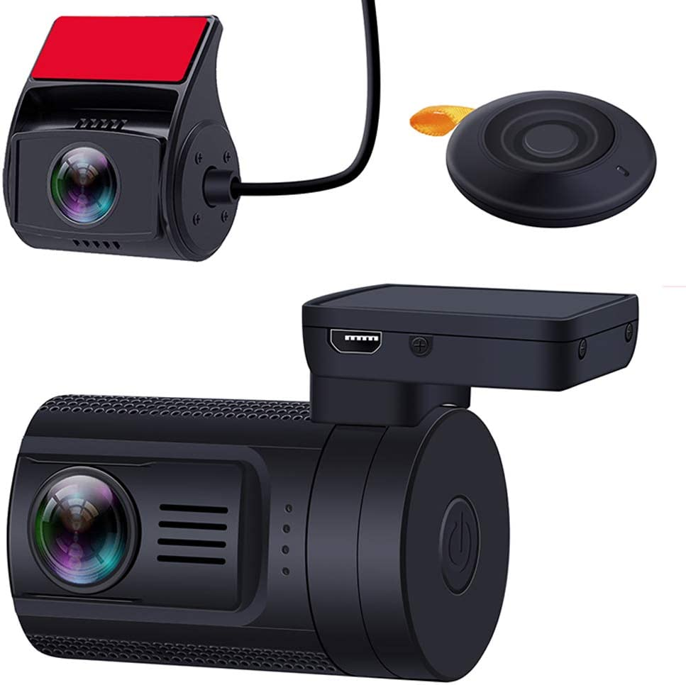 Dual Lens Dash Cam, Blueskysea Mini 0906 PRO 1080P Front and Rear Dash Camera WiFi GPS Car Camera Recorder Sony IMX327 Loop Recording Night Vision