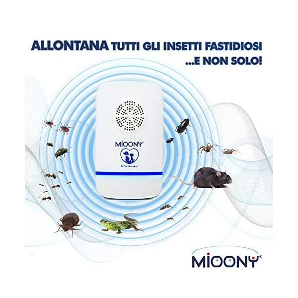 MIOONY® Repellente Ultrasuoni Anti Zanzare a Multifrequenza di 3a Generazione Contro Topi Cimici Insetti Ragni Formiche… 2 spesavip