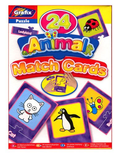 GRAFIX Animal Match Cards Age 2 6yrs