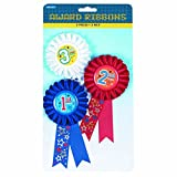 Amscan 215392 1st, 2nd, and 3rd Place Award Ribbons Multicolor, One Size, 3ct