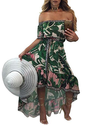 Buy belted one shoulder maxi dress - 5