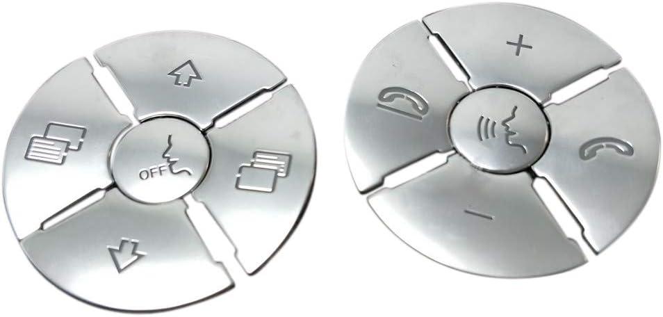 Domilay/12PZ Coprivolanti per Volante con Styling per Auto Adesivi per Rivestimento per Mercedes Benz R ML GL CLS SLK Argento ABS