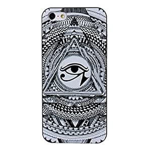 get Abstract Eye Pattern White Plastic Hard Case Cover for iPhone 5/5S