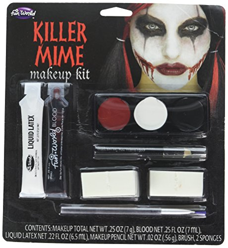 Killer Mime Makeup Kit, 5222KM, Fun -