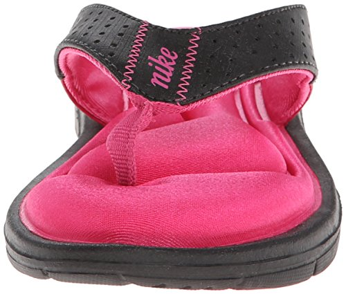 Nike Sweet Classic High (Gs/Ps) - Zapatillas de ante para niño Black/Vivid Pink/White