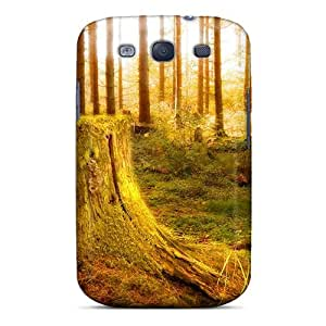 Awesome ARXTZiQ6196TSlnR Ajephke Defender Tpu Hard Case Cover For Galaxy S3- Tree Stump In A Magical Forest