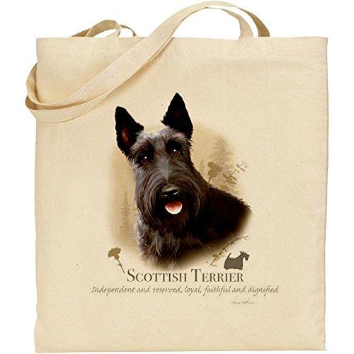 Howard Robinson Scottie Dog cotone naturale borsa