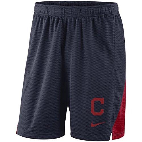 ナイキ メジャーリーグ MLB ショーツ Cleveland Indians Nike Franchise Performance Shorts インディアンズ Navy [並行輸入品] B07FSLLZ77  XL