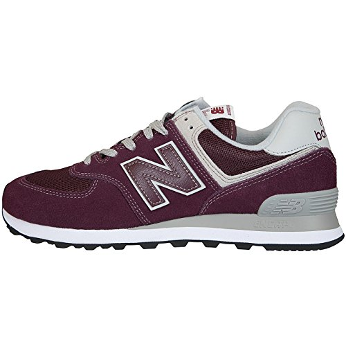 New Synthetic Mesh Suede 574 Burgundy Trainer NEWBALANC Sneaker Balance dwqIEX