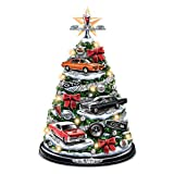 GTO Tabletop Christmas Tree With 5 Sculpted Cars And GTO Engine Sound: Lights Up by The Bradford Exchange