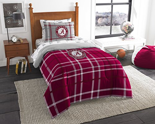 The Northwest Company Officially Licensed NCAA Alabama Crimson Tide Soft & Cozy 5-Piece Twin Size Bed in a Bag Set Alabama Crimson Tide Twin Comforter