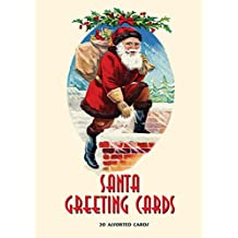 Santa Greeting Cards: 20 Assorted Cards in Deluxe Tin
