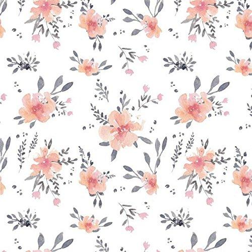 Flora Corail Drap Housse b/éb/é en Coton certifi/é Sevira Kids Collection Premium