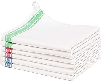amazon com liliane collection multi 6 kitchen 18x28 100 cotton rh amazon com