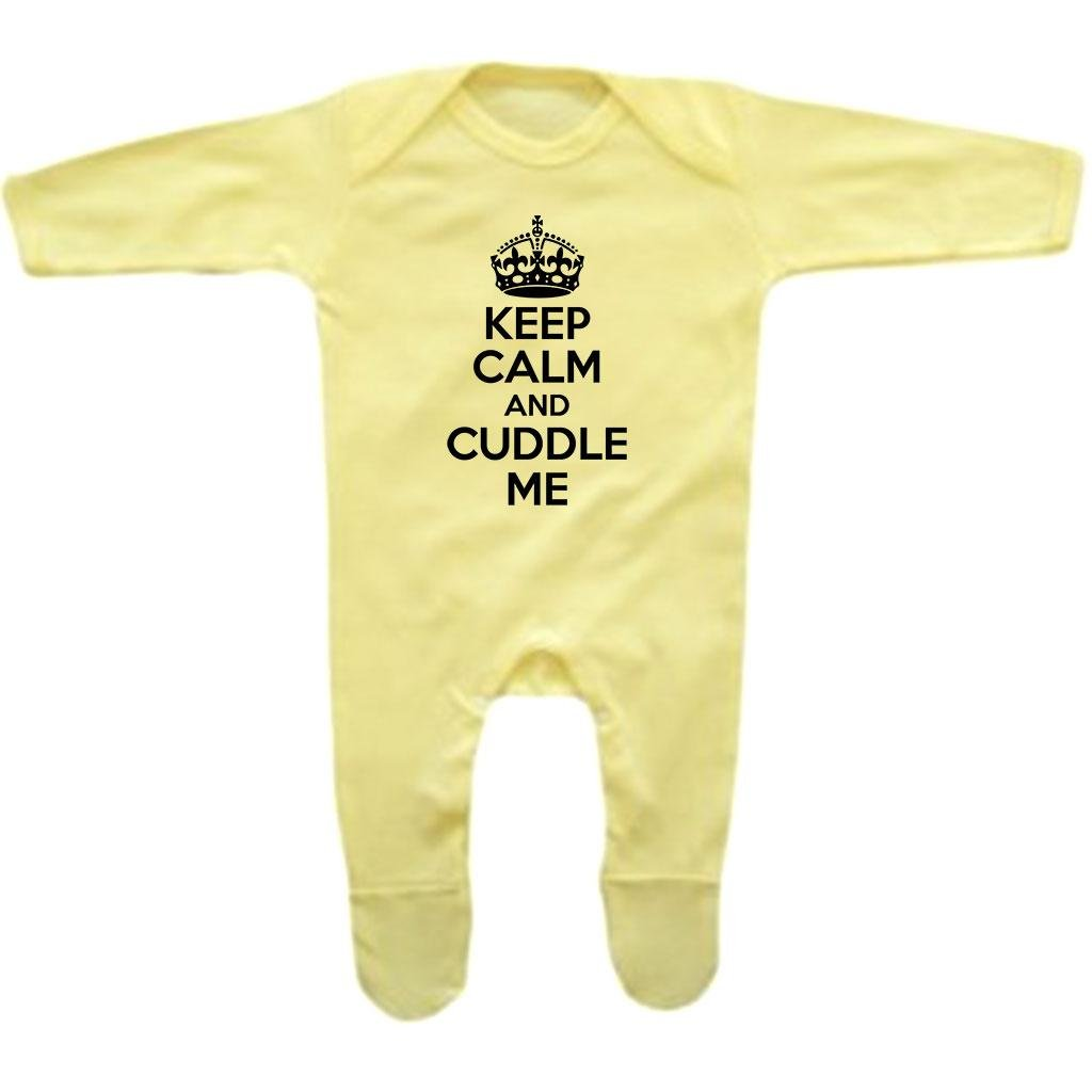 Bang Tidy Clothing Baby Girls Keep Calm and Cuddle Me Rompersuit