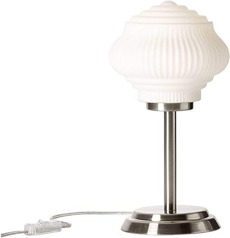 Brilliant Lampada Da Tavolo Nichel Opaco Bianco Amazon It Illuminazione
