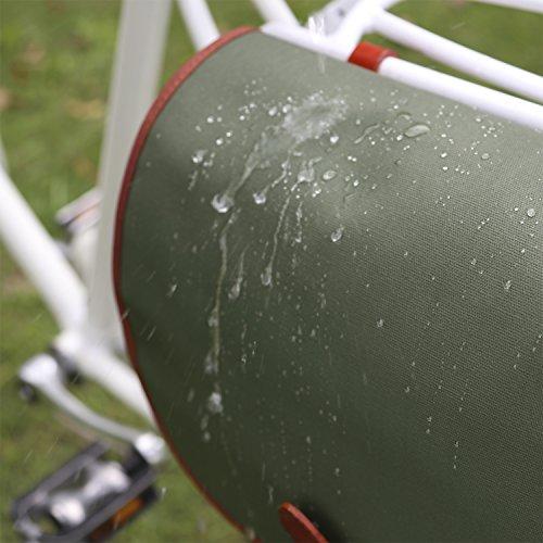 Tourbon wasserdichte Segeltuch-Fahrrad-Laptop-Schulter-Beutel-Fahrrad-hintere Sitz-Pannier