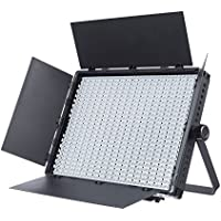 Fovitec StudioPRO - 1x Bi Color 1200 LED Panel w/Barndoors - [Continuous][Adjustable Lighting][V-Lock Compatible][Stands Sold Separately]