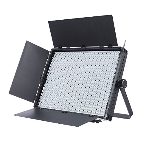 Fovitec  StudioPRO - 1x Daylight 1200 LED Panel w/ Barndoors - [Continuous][Adjustable Lighting][V-Lock Compatible][Stands Sold Separately] by Fovitec