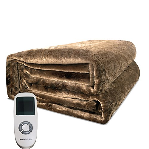 T YONG TONG Heated Blanket, 100% Luxurious Supersoft Flannel, Electric Heating Bed Toppers with EasySet Control and Timer, Fast Heating Technology, Ultra-Fresh Anti-bacteria Extra Comfort, Coffee