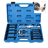 16PCS Blind Hole Inner Bearing Puller Remover Extractor Set Slide Hammer Tool Kit with Case