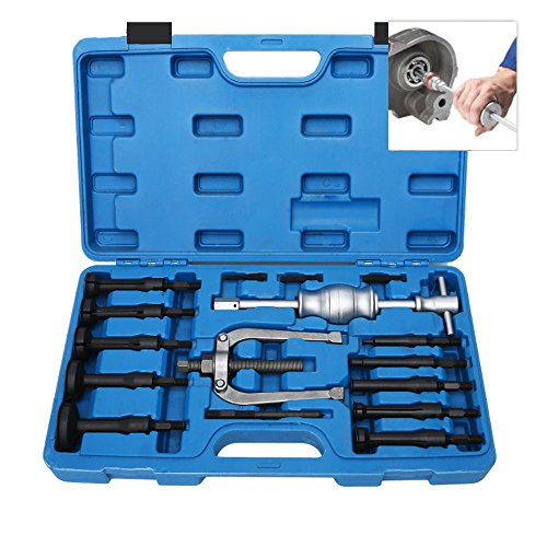 16PCS Blind Hole Inner Bearing Puller Remover Extractor Set Slide Hammer Tool Kit with Case (58mm Pilots)