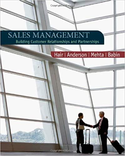 Sales management building customer relationships and partnerships sales management building customer relationships and partnerships 1st edition fandeluxe Images
