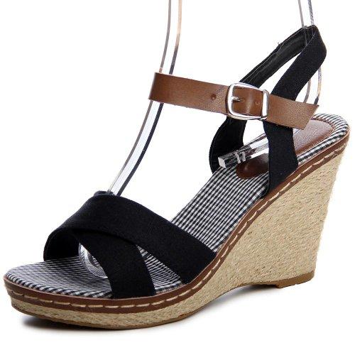 topschuhe24 Damen Sandalen Keilabsatz