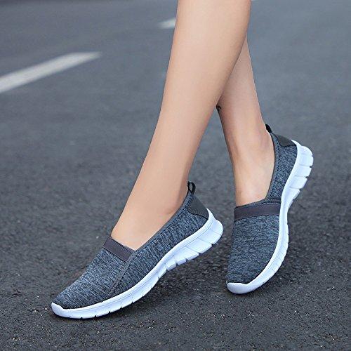 Fille Chaussures Chaussures Mode Gris Foncé Femme Chaussures Yesmile pour de Sport X1Tn6Xr