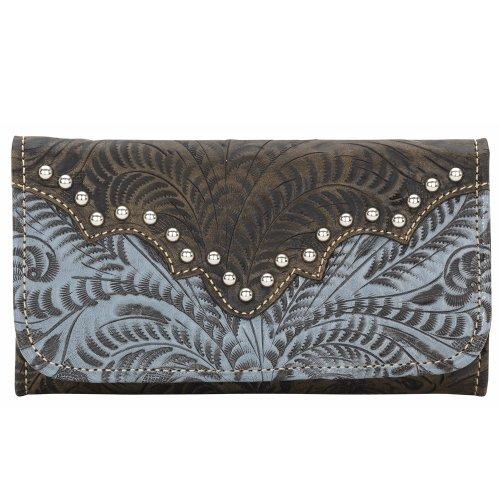 American West Women's Annie's Secret Tri-Fold Wallet Brown One -