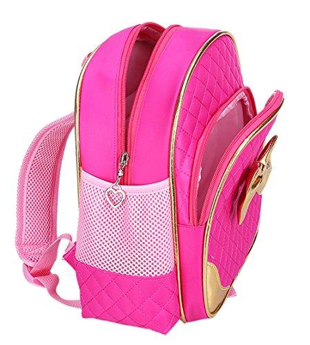 0b41dd588dc Mysticbags Waterproof Toddler Preschool Bag Kindergarten Kids Backpack for Little  Girls 11 inches Rose Red
