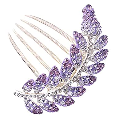 Bridal Fascinator Wedding Headpiece Rhinestone Hair Comb Women Hairpin Headdress
