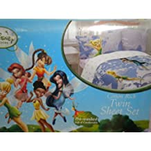 Disney TinkerBell Fairies Swirl Twirl Twin Sheet Set Tinker Bell Sheets
