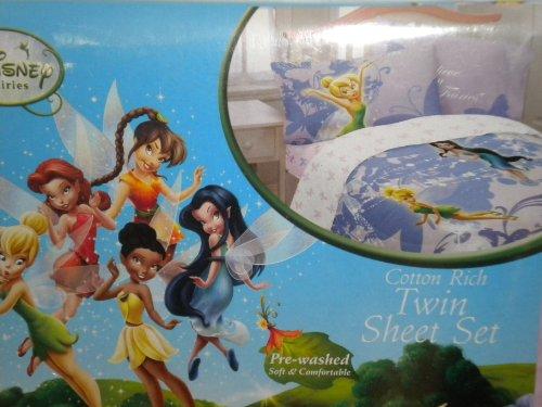 Disney Fairies Swirl Twirl Cotton Rich Twin Sheet Set