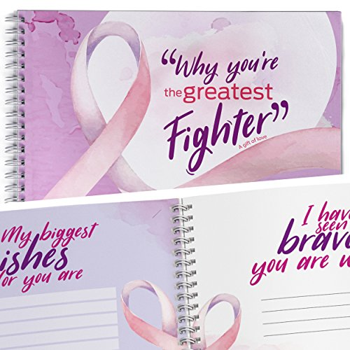 Cancer Awareness Support Gift Book for Your Loved One. Fill in With Your Words Friendship Gifts Memory Book. A Keepsake Full of Colorful Pages and Affection Notes (Personalized Breast)