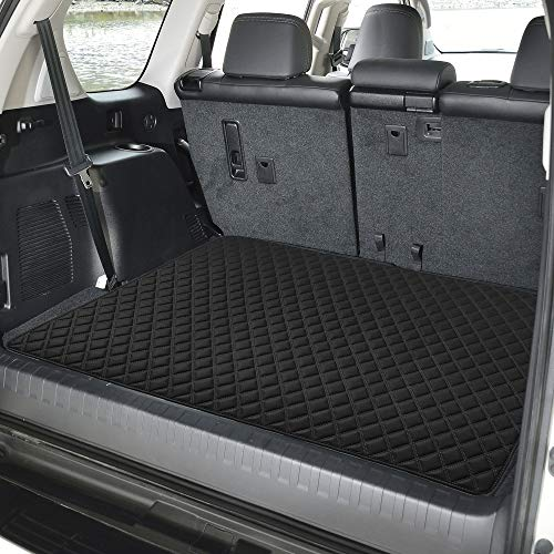 "FH Group F16501 Deluxe Heavy-Duty Faux Leather Multi-Purpose Cargo Liner, Diamond, 32"" : 40"" x 32"", Black Color- Fit Most Car, Truck, SUV, or Van"