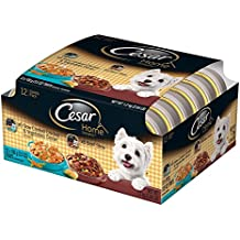 Cesar HOME DELIGHTS Variety Pack Slow Cooked Chicken & Vegetables Dinner and Beef Stew Wet Dog Food 3.5 Ounce (Pack of 24)