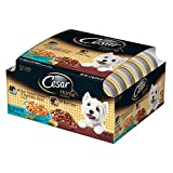 CESAR HOME DELIGHTS Variety Pack Chicken & Vegetables and Beef Stew Dog Food (Two 12-Count Cases)