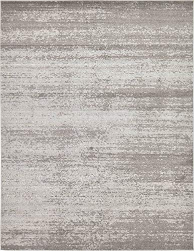 Unique Loom Del Mar Collection Contemporary Transitional Gray Area Rug (10' 0 x 13' 0)