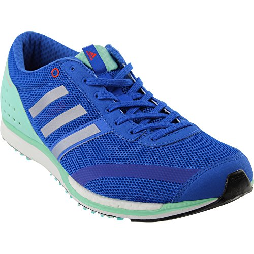 adidas Performance Adizero Takumi SEN Running Shoe Blue/Metallic/Silver/Easy Green S 11.5 M US