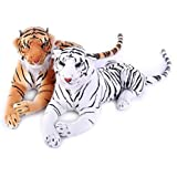 Deals India Tiger Combo, White/Brown